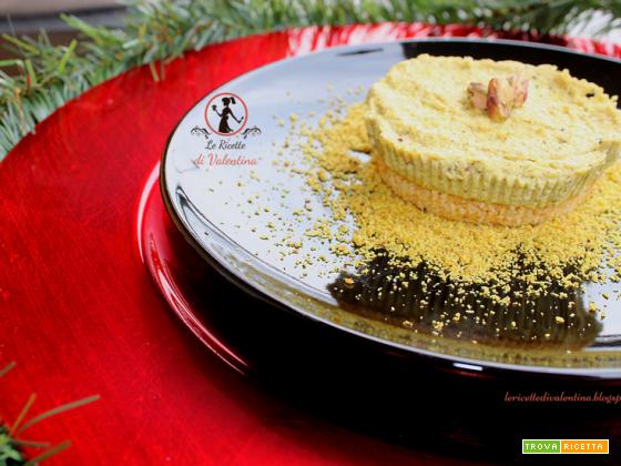 Mini cheese cake salate al Pistacchio, senza cottura, idea per le Feste ma non solo