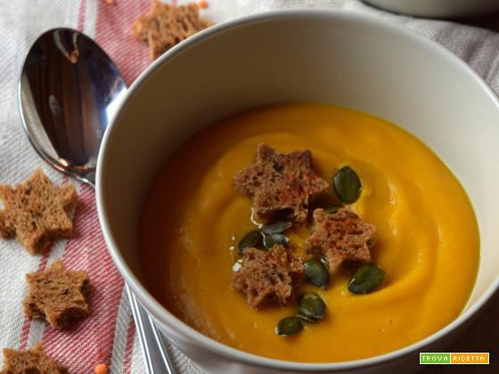 Vellutata di zucca e lenticchie rosse alla paprika: aspettando il Natale (2)