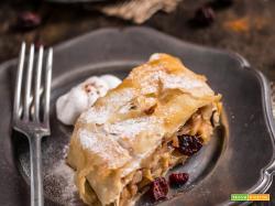 STRUDEL di MELE VEGAN e LIGHT – senza uova senza burro – con pasta tirata
