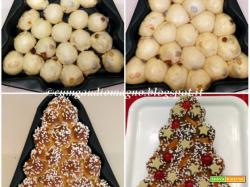 Albero di Natale di brioche al panettone con licoli