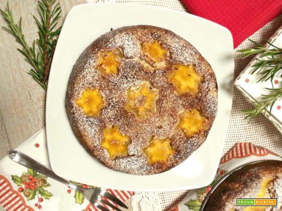 Torta morbida con ananas ricotta e rosmarino