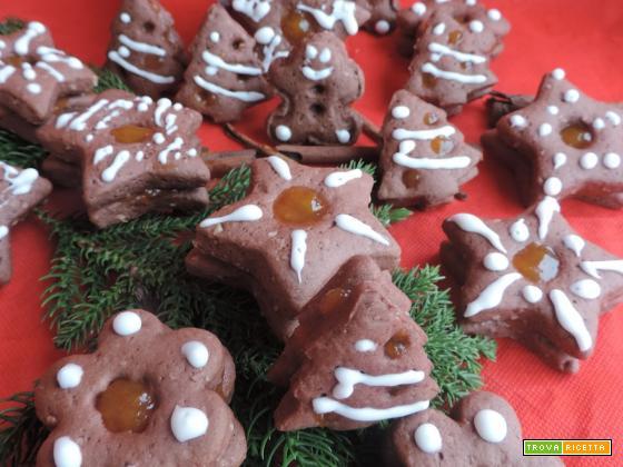 Biscotti linzer cacao