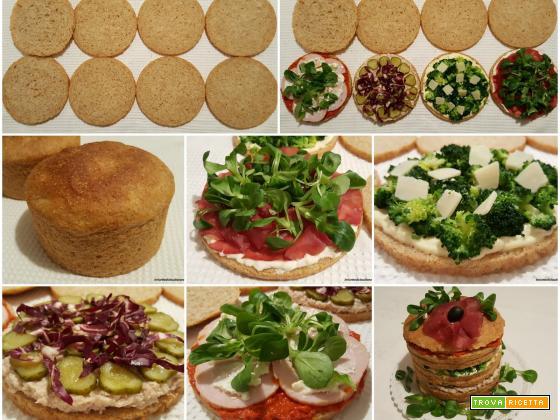 Panettone gastronomico semintegrale farcito con bresaola, tonno, valeriana, broccolo, radicchio, cetriolini, stracchino, arrosto di tacchino e salsa piccante