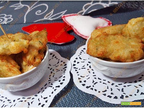 Frittelle di coste di bietola cipolla e curcuma