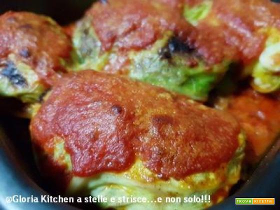 Fagottini di Verza Ripieni con Carne e Scamorza di Gloria KitchenUSA