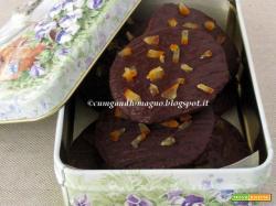 Biscotti velocissimi con cioccolato e arancia candita