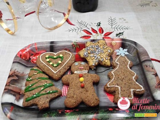 Biscotti senza glutine al grano saraceno versione natalizia