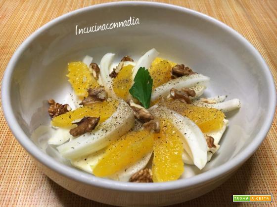 Insalata invernale di finocchi, arance e noci