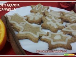 Biscotti arancia e cannella senza lattosio