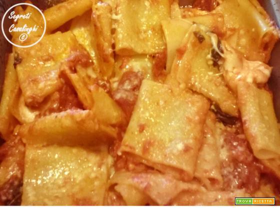 paccheri forno pomodoro mozzarella bufala