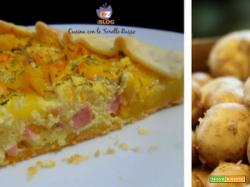 Quiche di patate, rosmarino e ricotta