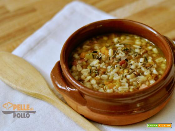 Zuppa con orzo e lenticchie