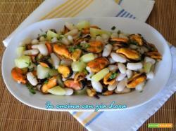 Insalata di patate cozze e fagioli