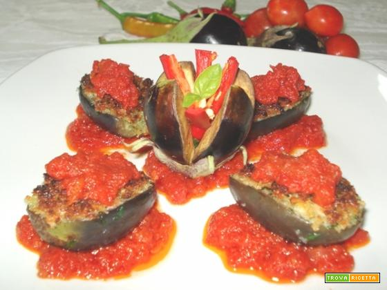 Barchette di melanzane vegetariane (per 4)