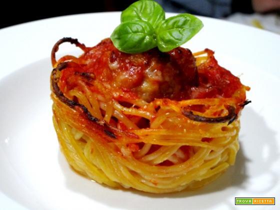 Cestini di spaghetti