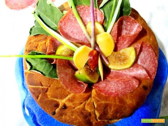Ciambella di salame e fichi