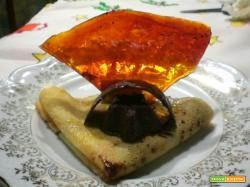 Crêpes alla marmellata d'arance e cioccolato