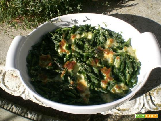 Gnocchetti di spinaci gratinati al forno