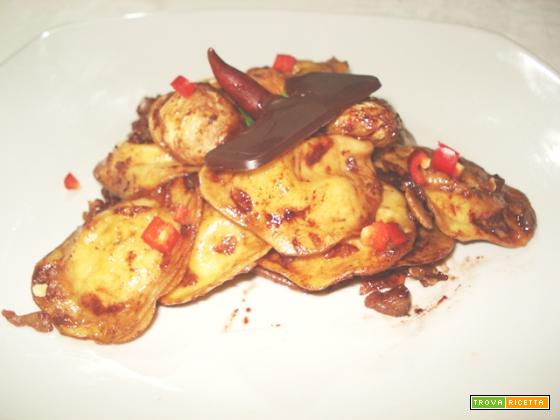 Ravioli tondi di castagne al cioccolato (per 4)