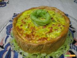Torta salata di porri e prosciutto