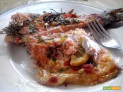 Trota salmonata al forno