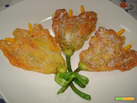 Tulipani di zucca in pastella dolce (per 4)