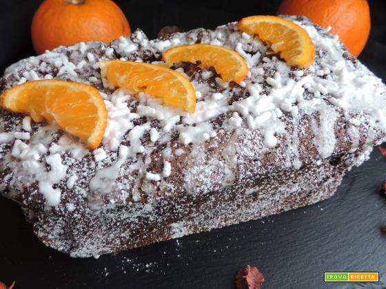 Plumcake cacao e arancia (senza burro)