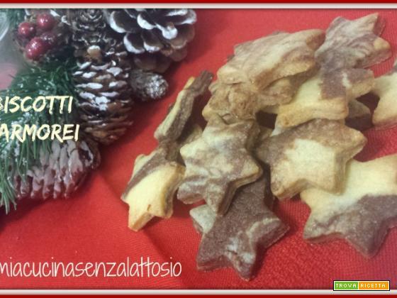 Biscotti marmorei senza lattosio