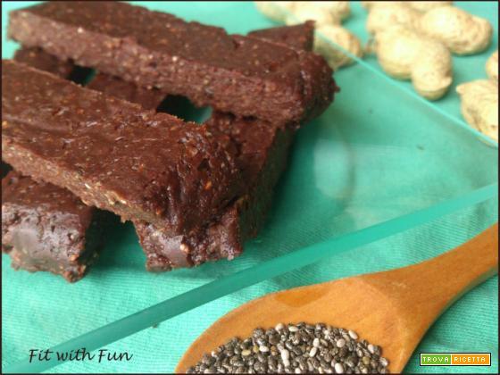 Barrette Energetiche Semi di Chia, Cioccolato, Burro d'Arachidi