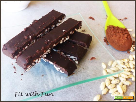 Barrette Riso Soffiato e Cioccolato da 100 calorie
