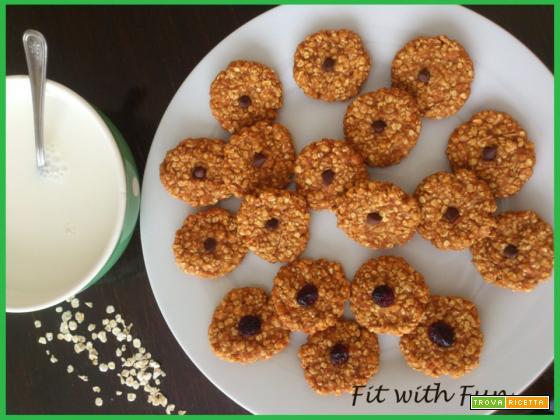 Biscotti Fiocchi d'Avena (5 ingredienti - Pronti in 20')