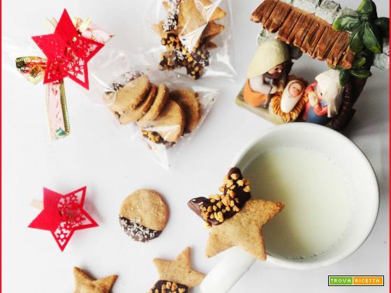 Biscotti Mandorle e Grano Saraceno ricoperti di Cioccolato