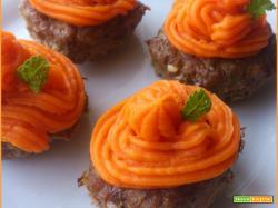 Cupcakes salati di Manzo con Crema di Patate Dolci