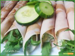 Involtini di Fesa di Tacchino o Pollo con Salsa Tzatziki