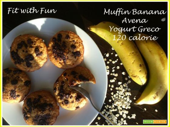 Muffin Banana, Avena e Yogurt Greco da 120 calorie