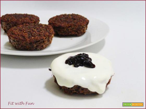 Muffin con Yogurt di Anacardi e Frutti Rossi Sciroppati