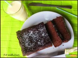 Plumcake Gluten Free al Cacao Zucchine e Fagioli Neri