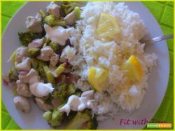 Riso Freddo al Limone con Pollo e Broccoli