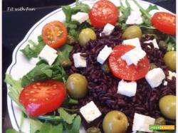 Riso Venere con Feta, Pomodorini e Olive