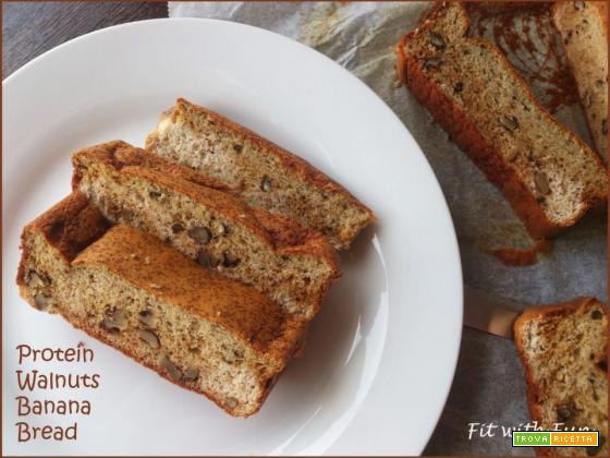 Banana Bread Proteico e Morbido con Noci