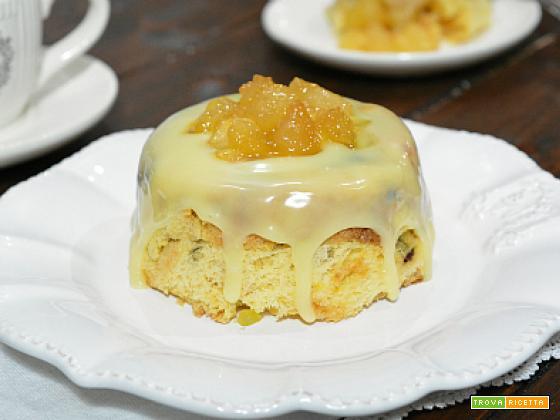 Tortini di Panettone con cuore di mela
