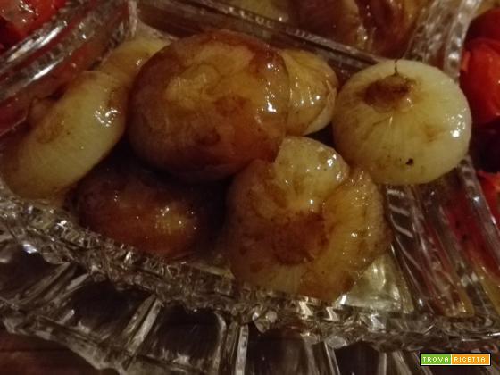 Cipolline borretane agrodolci con aceto balsamico