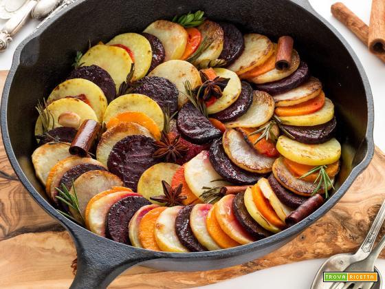 RATATOUILLE INVERNALE di Patate, Barbabietola e Zucca