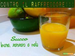 Rimedio naturale contro il raffreddore alla mela, limone e zenzero