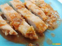 Pollo porro e arancia piccante