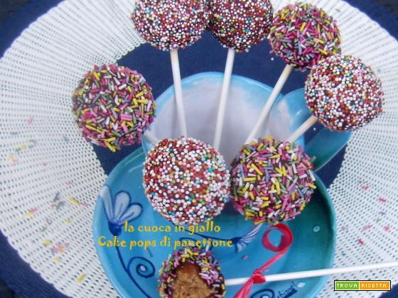 Cake pops di panettone