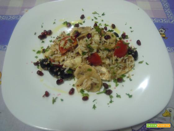 Insalata con Quinoa, verdure e riso