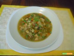 Minestra  dell'orto con pollo e riso