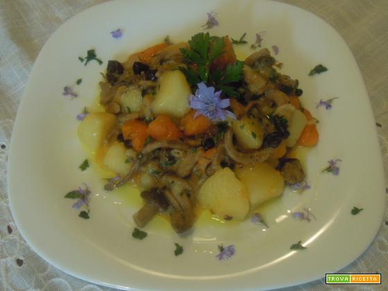 Spezzatino di verdure e pioppini