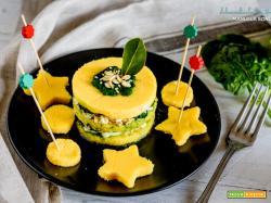Tortino di polenta vegetariano